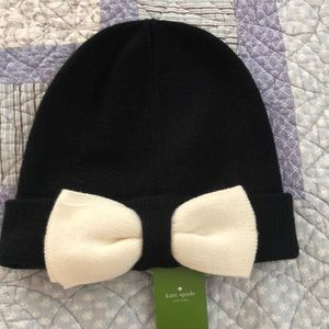 Cutie!!  Kate Spade black with bow beanie!